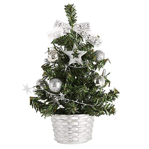 LKXZYX 20cm Mini Christmas Trees Xmas Decorations A Small Pine Tree Placed in The Desktop Christmas Festival Home Ornaments