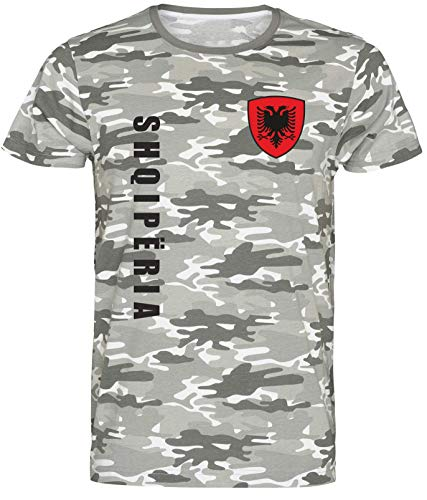 Nation Albanien T-Shirt Camouflage wspa Army (L)