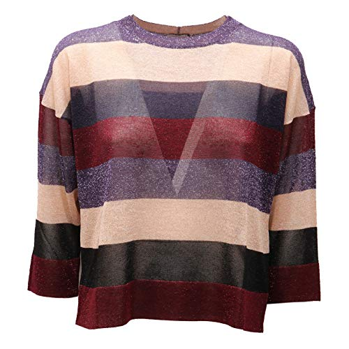 MARELLA 9329AC Maglia Donna Lurex Multicolor Stripes t-Shirt Women [S]