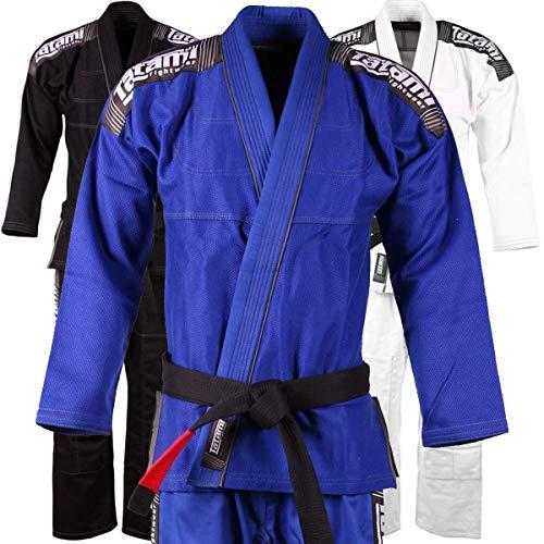Tatami BJJ GI Blue Nova–Hombre Adulto BJJ GI–Kimono con cinturón Blanco, Azul