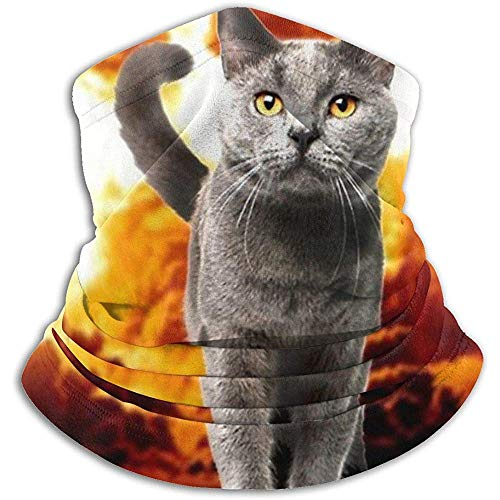 Regan Nehemiah vuur kat Explosion Action Film Crazy Space Kitty Fleece nekverwarmer nekbescherming gezichtsmasker