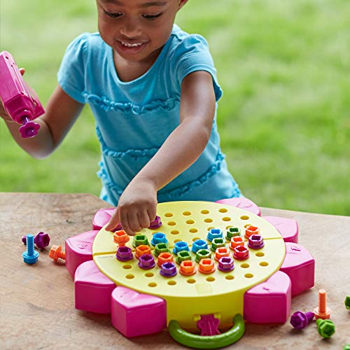 Educational Insights Design & Drill Flower Power Studio, Drill Toy, 70 Piece Set , Perfect for Boys & Girls Ages 3+