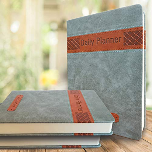 ALSAVCHE Daily Planner, All in One, Organizer, Journal, Diary, Page for every day, 432 pages Undated Daily, Monthly, Yearly Motivational Notebook, Appointments, To-Do 5.5'x7.5'