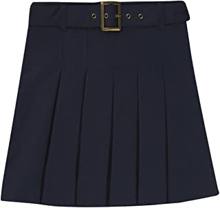 Girls' Pleated Scooter with Square Buckle Belt