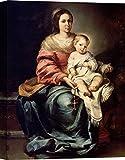 Art Print Cafe – Cuadro – Impresion sobre Lienzo - Bartolomé Esteban Murillo, Madonna del Rosario – 100x70 cm
