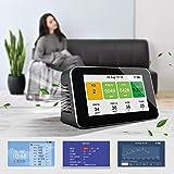 SEAAN Monitoraggio della qualità dell'aria Rilevatore di qualità dell'aria ricaricabile con LCD, Multifunzionale per PM2,5 PM10 CO2 TVOC AQI, facile utilizzo e lettura