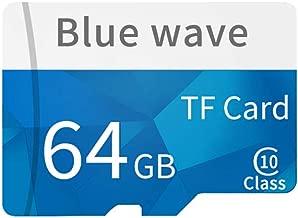 Docooler Memoria ad alta velocità della carta di TF della carta di TF della classe 10 della carta di memoria di capacità di alta velocità per lo smartphone 8GB/64GB/128GB (64GB)