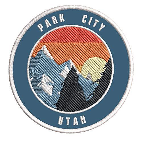 Park City, Utah Ski Restort Mountain Embroidered Premium Patch DIY Iron-on...