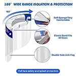 SGODDE 10 Pcs Pantalla Protección Facial Transparente, Protector Facial de Seguridad, Viseras de Seg... #3