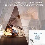 FOCHEA Moskitonetz Bett, Kuppel Groß Mückennetz für Einzelbett, Doppelbett und Babybett, Prinzessin Moskitonetz Mückennetz Insektennetz Betthimmel für Reise und Zuhause - 2