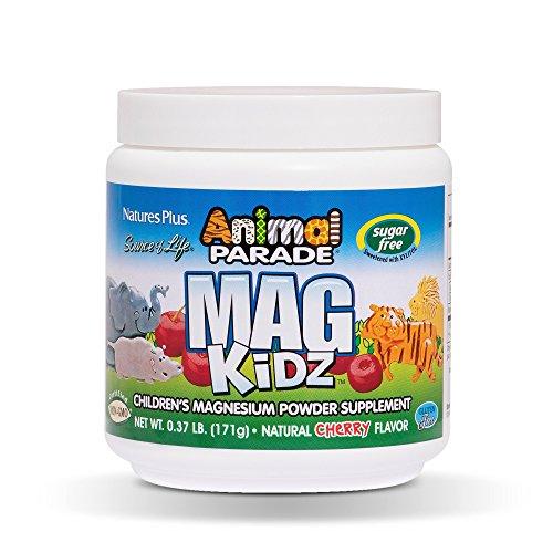 NaturesPlus Animal Parade MagKidz Cherry Flavour Sugar Free Powder, 171g, 45 Servings