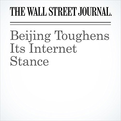 Beijing Toughens Its Internet Stance copertina
