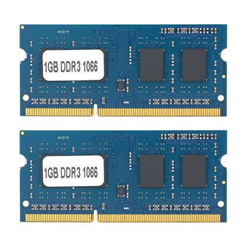 Barra di Memoria per Notebook, 1,5 V 2 Pezzi DDR3 1 GB PC3-8500 1066 Mhz, per Moduli Computer AMD Intel