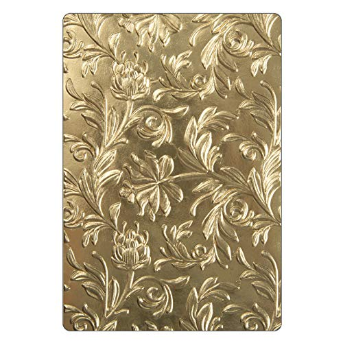Sizzix 3-D Texture Fades Troquel Carpeta de grabado Botánico