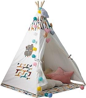 Vobajf Barn lektält barn leker tält inomhus indisk lekstuga leksak tipi för barn småbarn inomhus lektält (färg: Vit2, stor...
