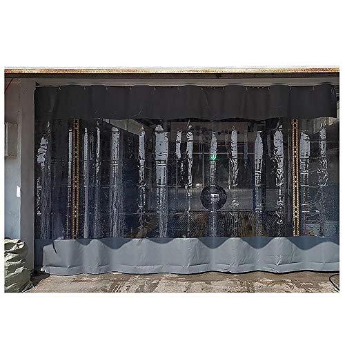 Paneles Laterales Con Ventana, Con Ojales PVC Tarea Pesada Panel Lona Impermeable, Resistente Clima Cortina Partición Por Pérgola, Porche, Gazebo, Jardín HENGYUS ( Color : Gray , Size : 3.5x2.5m )