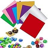 800 Piezas 8 Colores Envoltorios De Papel De Dulces, Envoltorios De Aluminio De Color, Papeles Embalaje Papel Aluminio Grado Alimenticio Color Para Dulces Caseros De Bricolaje, 8 x 8 cm