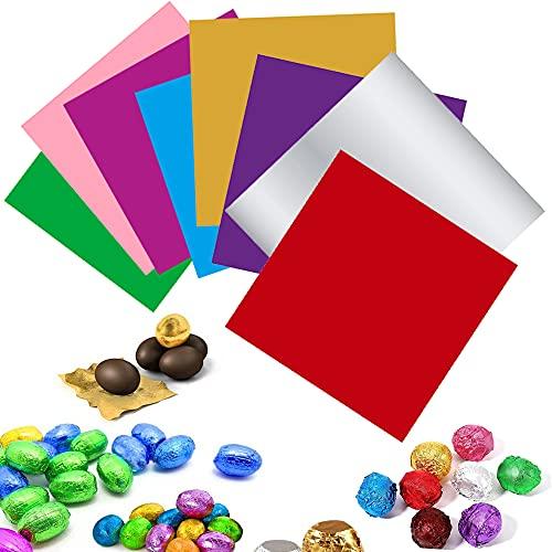 800 Pezzi Involucri Di Carta Per Dolci, Imballaggio In Foglio Di Alluminio, Colore Per Uso Alimentare Involucri Di Cioccolato Caramelle Per Caramelle Fatte In Casa Fai Da Te, Feste, (8 Colori)