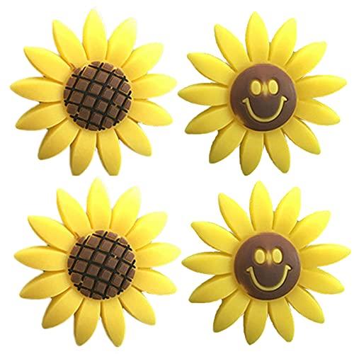 DERMASENS Sunflower Air Outlet Fragrant Perfume Clip, Sunflowers Gift Decorations Car Clip Interior Air Vent Decor,Car Air Outlet Freshener Perfume Aroma Clip Decor (D)