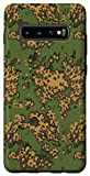Galaxy S10+ Russian Partizan Green Camo Camouflage Army Military Pattern Case