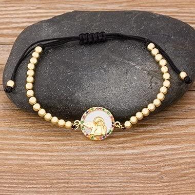 2020 New Trendy 9 StylesVirgin Mary Bracelet Gold Color Jesus Christ Handmade Beads Bracelets for Women Adjustable Jewelry Gifts