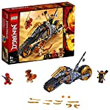 LEGO 70672 NINJAGO Cole's Dirt Bike Ninja Motorbike with Caterpillar Tracks and 3 Minifigures, Adventure Toy for Kids