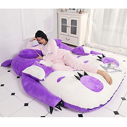 JFTY Felpa Relleno futón colchón Multifuncional Saco de Dormir sofá Cama Juguete Animal Regalo(Color:Purple,Size:200 * 130cm)