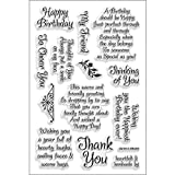 Stampendous SSC1141 Perfectly Clear Stamp, Friendly Phrases Image...