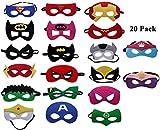 UCLEVER 20 Pezzi Maschere di Supereroi per Bambini Mascherine Supereroi Feltro con Confortevole Fascia