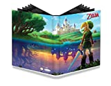 """Official The Legend of Zelda Full-View PRO Binder featuring """"A Link Between Worlds"""" Stores and protects standard (Magic) size gaming cards in Deck Protector sleeves Holds 360 cards and is made with archival-safe polypropylene materials Elastic strap ..."""