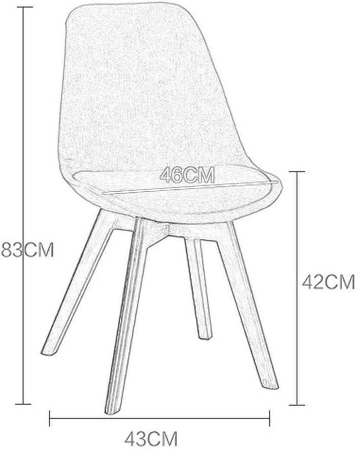 YAYYZ Chaise de Salle à Manger en Tissu Home Office avec Pieds en Bois Naturel à Motifs Multiples (Color : D) B