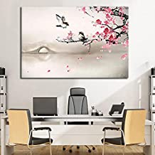 لوحة كانفس .. رسم كلاسيكي من الفن الصيني 60/90 سم