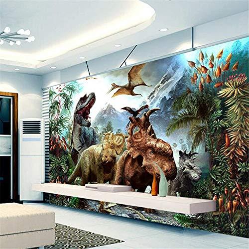 Fototapete Dekor Wallpaper Benutzerdefinierte 3D Poster 3D Cartoon Dinosaurier Vlies Wandbild Wohnzimmer Schlafzimmer Kinderzimmer Wandbilder Tapete, 150 Cm X 105 Cm