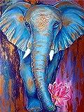 Pintura de diamante 5d taladro redondo completo Animal recién llegado bordado de diamantes decoraciones de elefante para el hogar A3 50x70cm