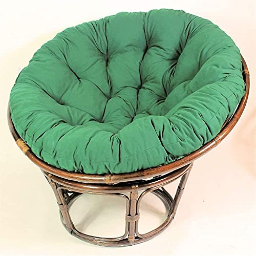 Meishikanka 48 Inch Papasan Seat Cushioning Overstuffed Round Egg Seat Cushion Oversize Chair Pads Navy Blue Patio Chair Cushion For Outdoor Indoor48X48X4inch (Color : Green)