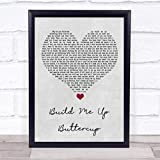 Build Me Up Buttercup Grey Heart Song Lyric Quote Music Poster Gift Present...