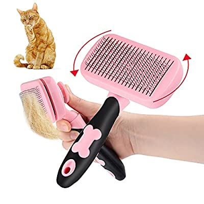 FPVERA Dog Brush Slicker,360 Degree Rotation Grooming Brush for Large to Small Dog or Cat With Short to Long Hair Helps Striping, Finishing, Detangling, Deshedding from FPVERA