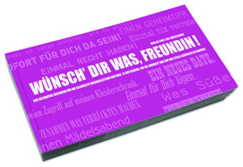 Gutscheinbuch für Freundinnen   WÜNSCH DIR WAS, FREUNDIN!