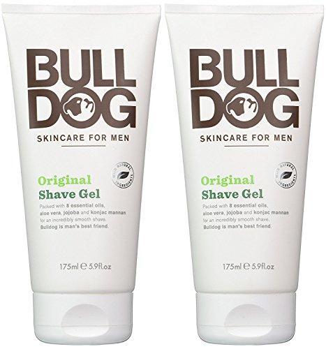Bulldog Skincare for Men Original Shave Gel (Pack of 2) With 8 Essential Oils, Aloe Vera, Jojoba and...