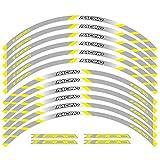 Para Kawasaki Z800 accesorios calcomanías de rueda de rayas motocicleta delantero y trasero ruedas de borde Etiqueta engomada del borde exterior reflectante (Color : Yellow B)