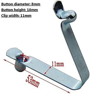 50pcs//lot Remo de kayak Tent Pole Tubo de bloqueo s/¨/®lido bot/¨/®n Snap Muelle pulsador de doble// /¨/²nico pin