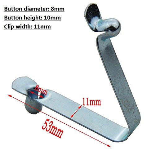 Clip a doppio bottone, molletta di fissaggio a pressione per pagaie di kayak, clip per pali di tenda, 50pezzi