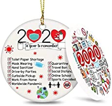 Forbeautiful 2020 Christmas Ornament, Commemorative Ornament, Pandemic Ornament, Quarantine Ornament, Ceramic Round Orname...