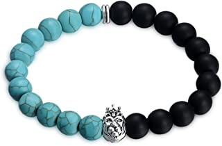 The perfect birthday present Fashionable Turquoise Buddha Bead Bracelet for Protection Bring Luck and Prosperity Show the Power of Youth