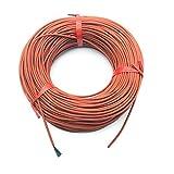 CROSYO Sistema de Cable de calefacción de Piso de calefacción infrarrojo de 1 UNID 10M de Cable de Fibra de Carbono de Gel de sílice de 3 mm Utilizada en Voltaje de 220V 150W 12K 33OHM / m