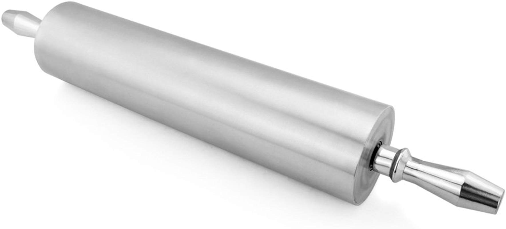 New Star Foodservice 37517 Extra Heavy Duty Restaurant Aluminum Rolling Pin 15 Inch Silver