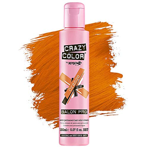 Crazy Color Hair Dye - Vegan and Cruelty-Free Semi Permanent Hair Color - Temporary Dye for Pre-lightened or Blonde Hair - No Peroxide or Developer Required (REBEL)