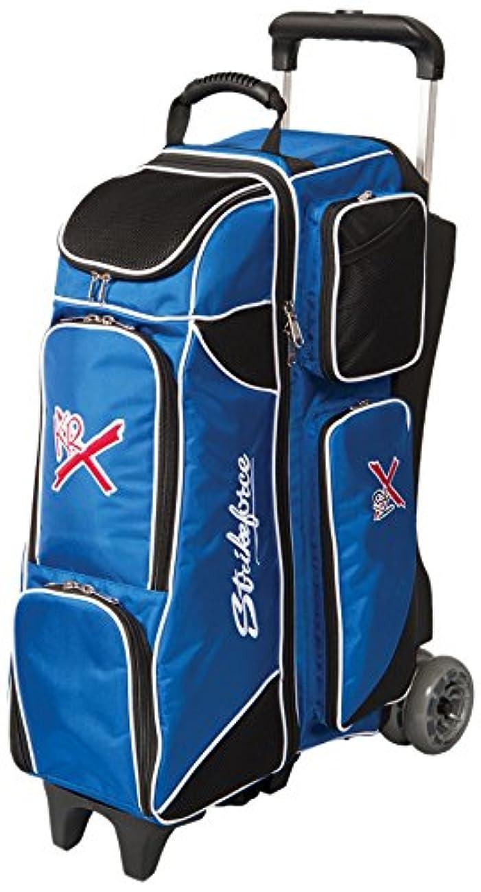 KR Strikeforce Royal Flush 4X4 Roller Bowling Bag, Royal/Black