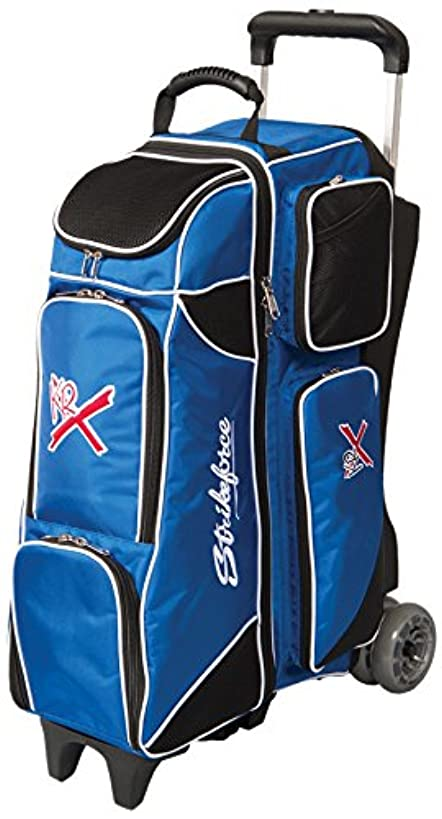 KR Strikeforce Royal Flush 4X4 Roller Bowling Bag, Royal/Black