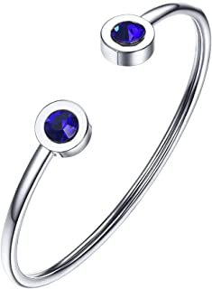 Best stainless steel bangles with crystals Reviews